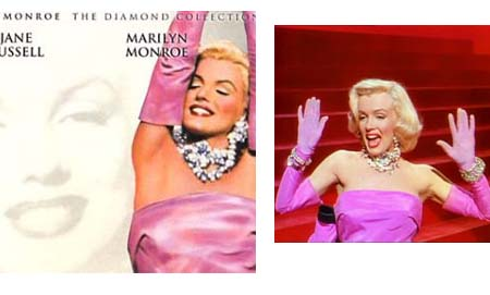 Marilyn Monroe Diamond Necklace - Gentlemen Prefer Blondes