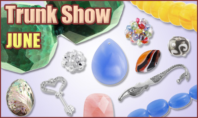 June Trunk Show at www.AuntiesBeads.com
